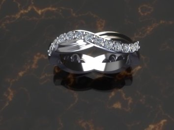 Curved anniversary ring top