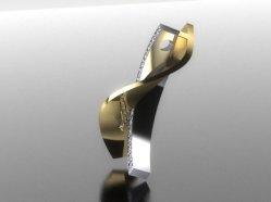 twisted diamond pendant right side