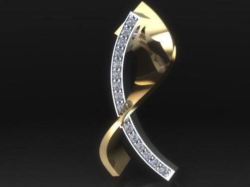twisted diamond pendant